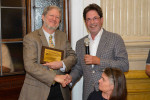 Christian Lengauer delivers the achievement award to David Keyes